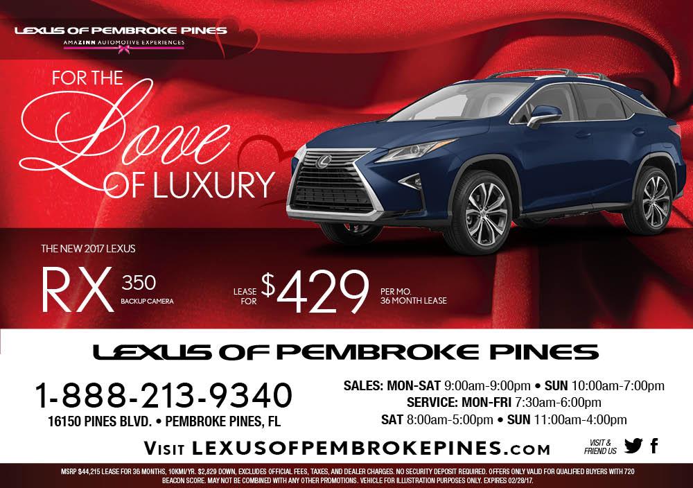 lexus of pembroke pines february newsletter. Black Bedroom Furniture Sets. Home Design Ideas