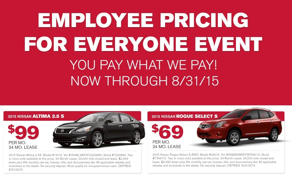 Nissan Employee Pricing