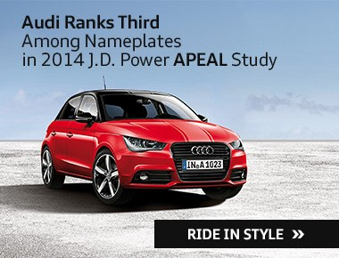 Audi Ranks Third Among Nameplates in 2014 JD Power Apeal Study