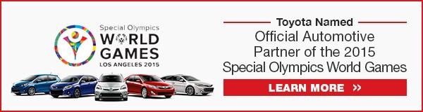 Toyota Named Official Automotive Partner of the 2015 Special Olympics