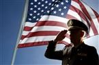 u.s. army colonel saluting flag