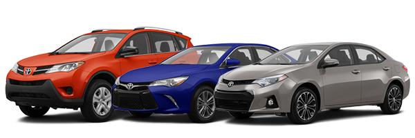 2015 Toyota RAV4, Camry & Corolla models